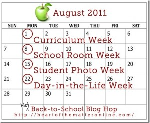 Heart of the Matter Not Back to School Blog Hop