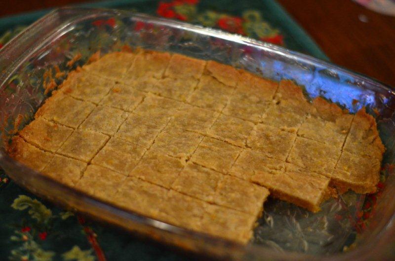 Gluten-Free Orange Shortbread Cookies