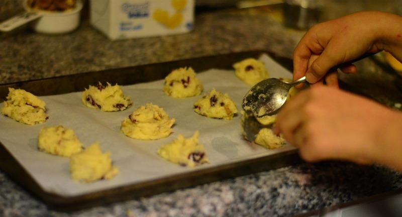 Cranberry-Pecan Drop Cookies