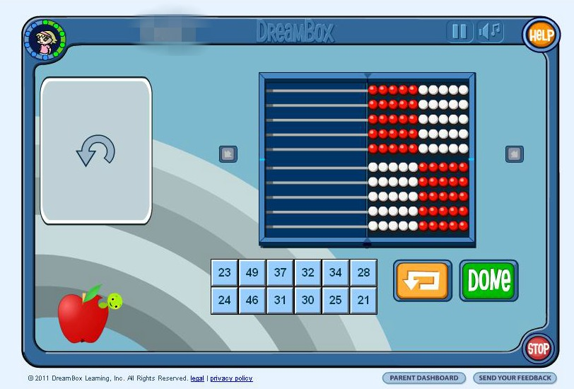 Dreambox Math Abacus Activity