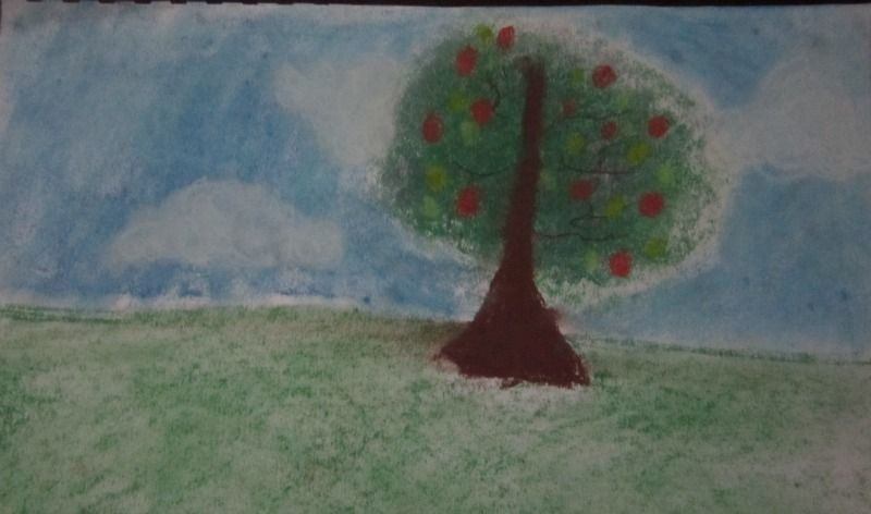 Tree Silhouette by Sweetpea, age 8